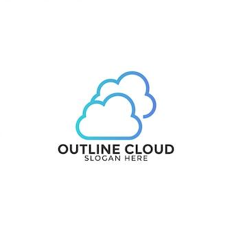 Wolkenlogo-designschablonenvektor lokalisiert