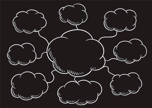 Wolkensprache-blasenillustration