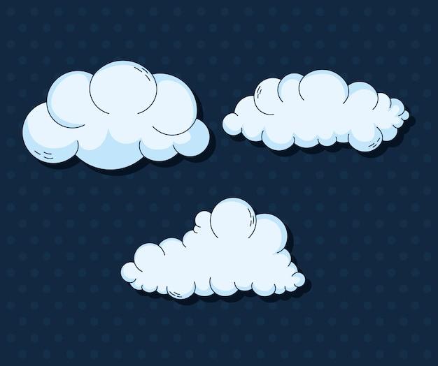 Wolkensymbol auf hintergrund eingestellt