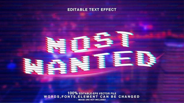 Wollte modernen glitch bearbeitbaren texteffekt