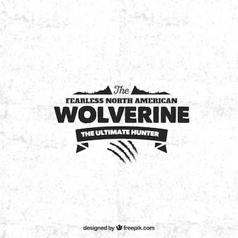 Wolverine abzeichen im retro-stil