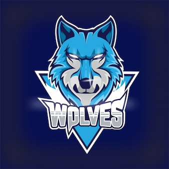 Wolves e-sports team maskottchen logo
