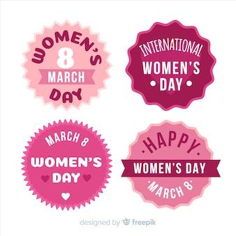 Womans day label-sammlung
