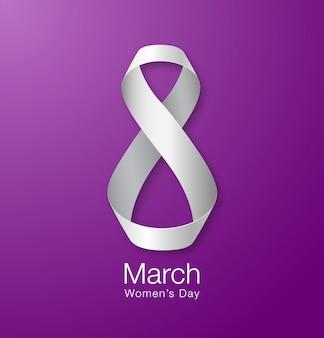 Womens day papier design der grußkarte vorlage.