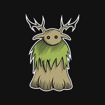 Woodden monster vektor-illustration