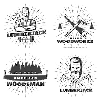Woodsman sunburst emblem designs