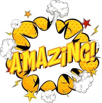 Word amazing auf comic cloud