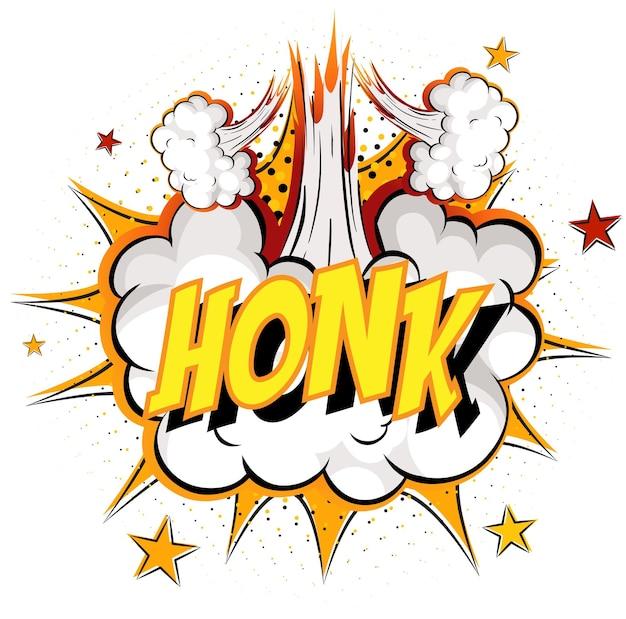 Word honk auf comic cloud