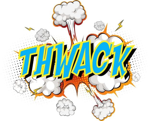 Word thwack auf comic cloud