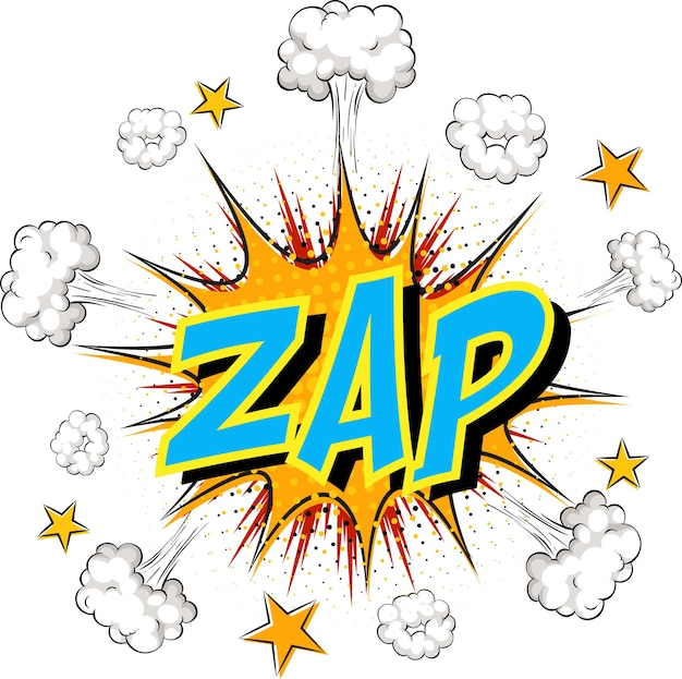 Word zap auf comic cloud