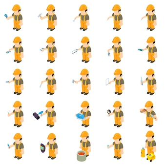 Worker builder-icon-set