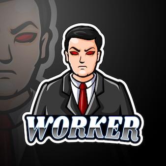 Worker esport logo maskottchen design