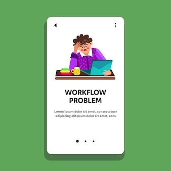 Workflow-problem gestresster mitarbeiter mann