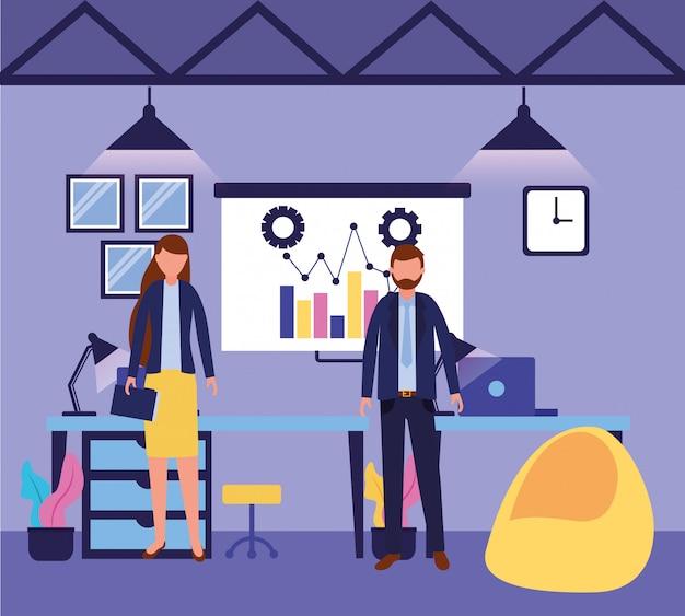 Workflow und infografik