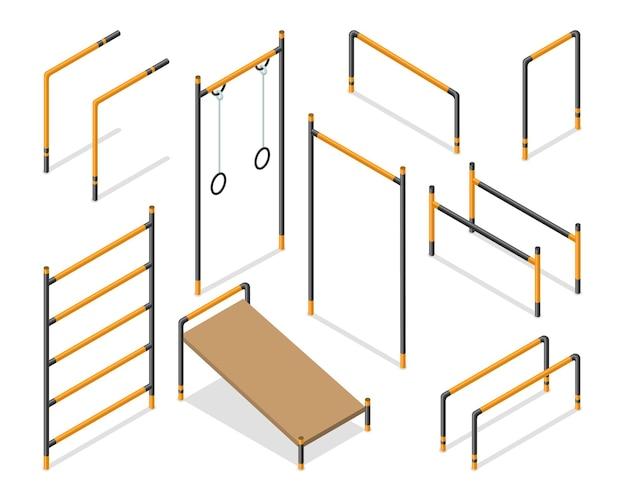 Workout isometrische straßenbereichselemente.