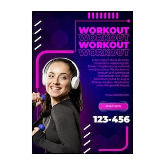 Workout poster vorlage mit foto