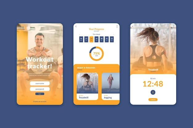 Workout-tracker-app-oberfläche