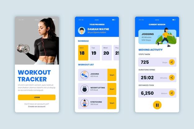 Workout tracker app sammlung