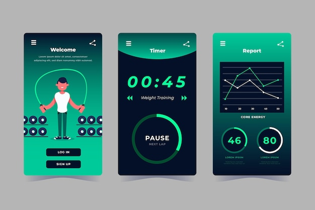 Workout tracker app sammlung