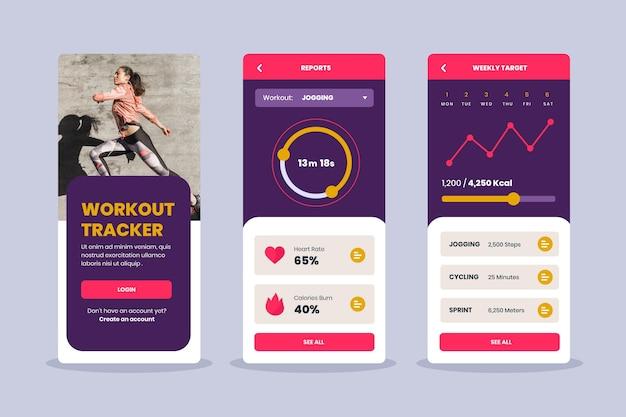Workout tracker app set