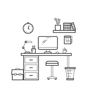 Workspace-linien-konzept