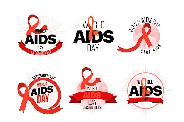 World aids day abzeichen konzept