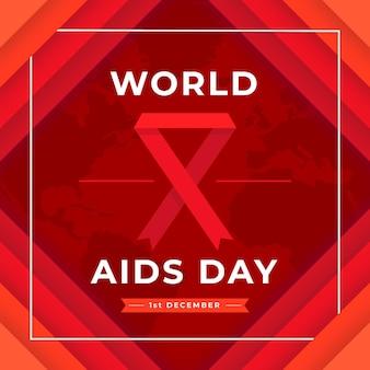 World aids day event im papierstil