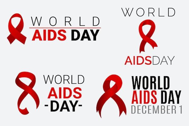 World aids day labels konzept