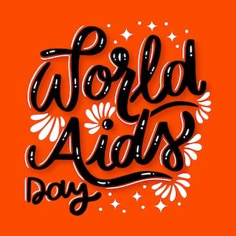 World aids day schriftzug