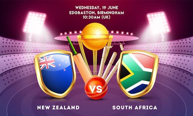 World cricket championship-konzept.