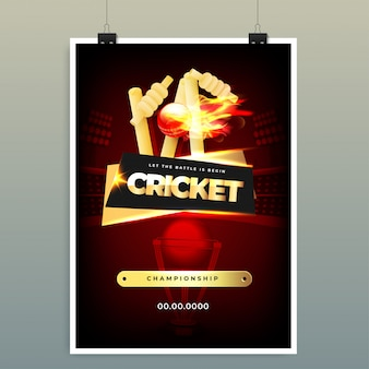 World cricket championship-konzept.