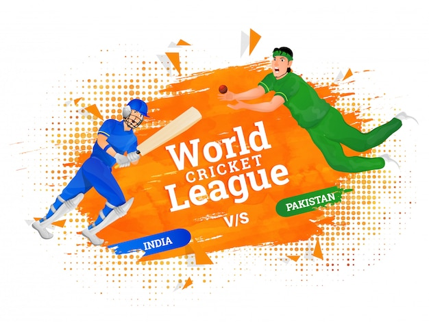 World cricket league-plakat-konzept.