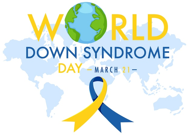 World down syndrom am 21. märz mit gelb