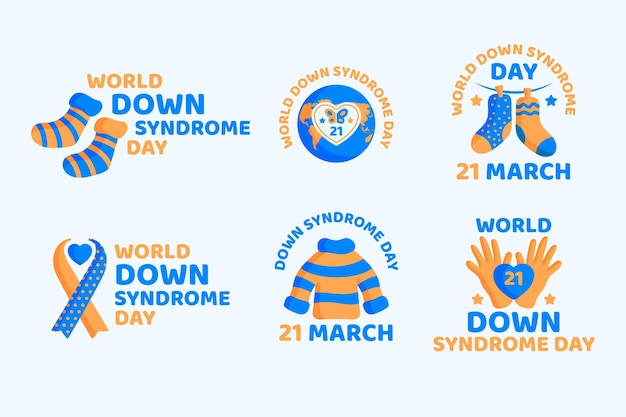 World down syndrom tag etiketten
