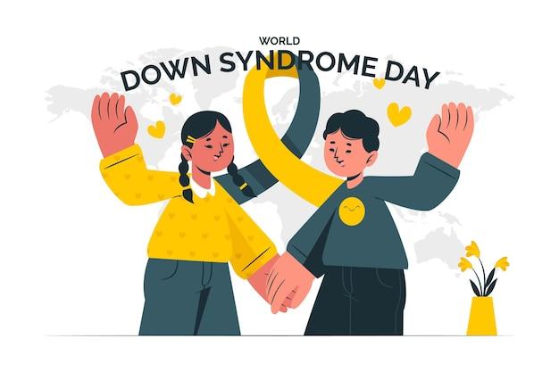 World down syndrom tag konzept illustration