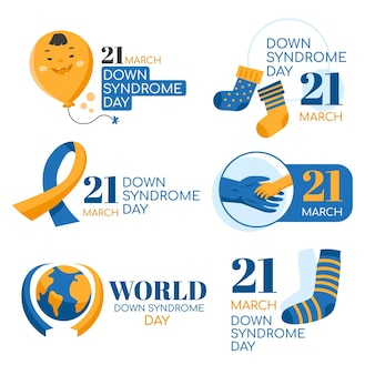 World down syndrom tag label label gesetzt