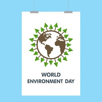 World environment day globus plakat