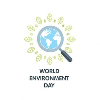 World environment day suche globus mit blatt