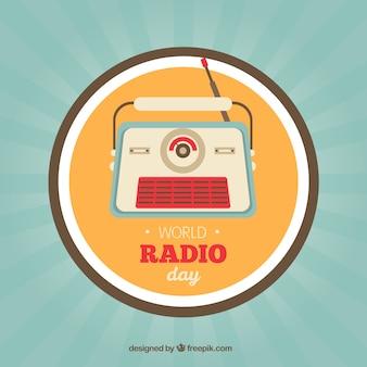 World radio tag vintage badge