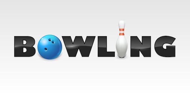 Wort des bowlingspiels
