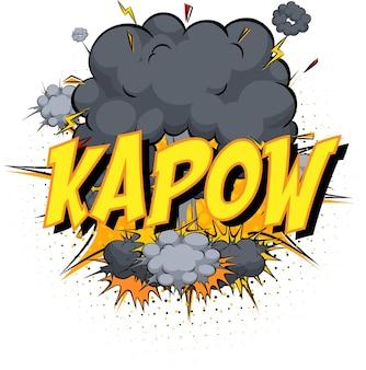 Wort kapow auf comicwolke