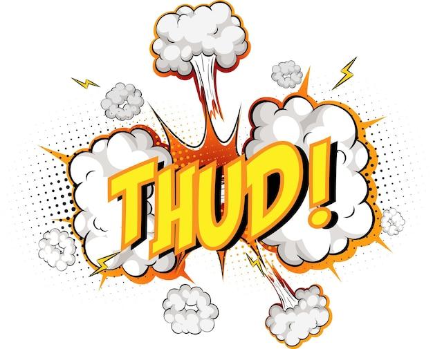 Wort thud auf comic-wolkenexplosion
