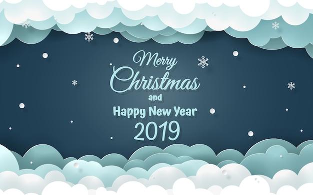 Wort von frohen weihnachten und von guten rutsch ins neue jahr 2019