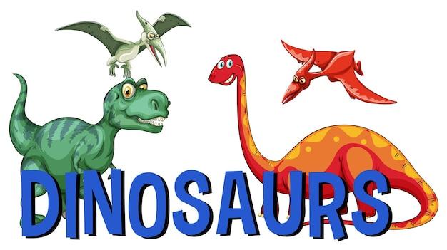 Wortdesign für dinosaurier