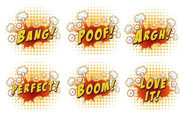 Worte auf wolke explosionen illustration
