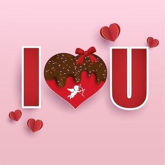 Worte der liebe und dekoration zum valentinstag