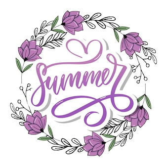 Wortverkauf. briefe aus blumen und blättern sommerverkauf urlaub flyer banner poster sommerverkauf