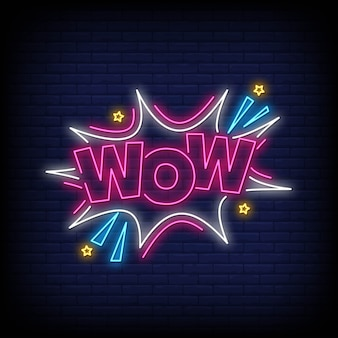 Wow neon signs style template