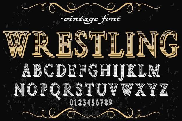Wrestling für schriftbild-design