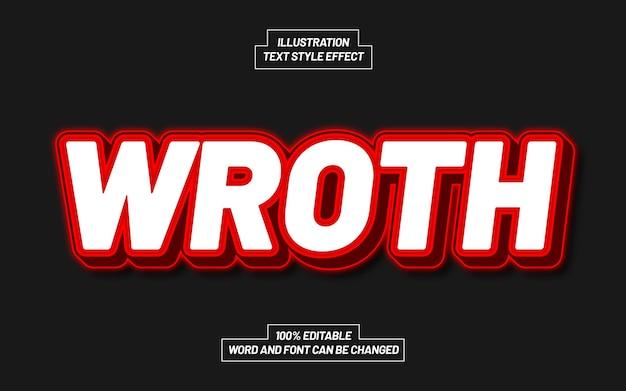 Wroth text style effekt